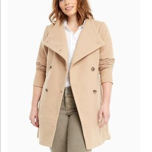 Torrid | Camel Wool Funnel Neck Coat